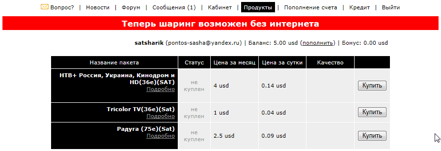 dreambox 500s кардшаринг: